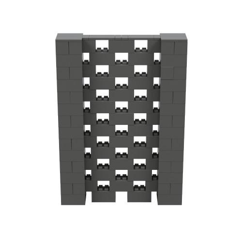 5' x 7' Dark Gray Open Stagger Block Wall Kit
