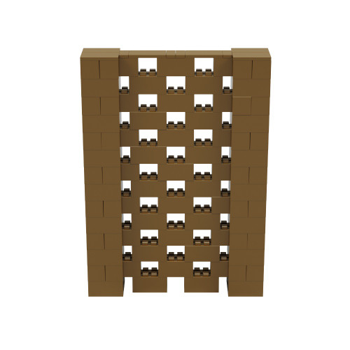 5' x 7' Gold Open Stagger Block Wall Kit