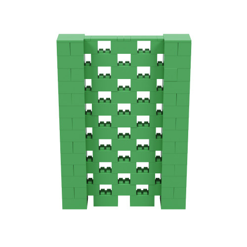 5' x 7' Green Open Stagger Block Wall Kit