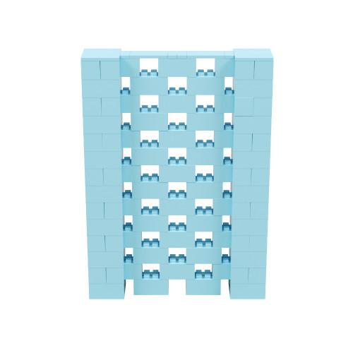 5' x 7' Light Blue Open Stagger Block Wall Kit