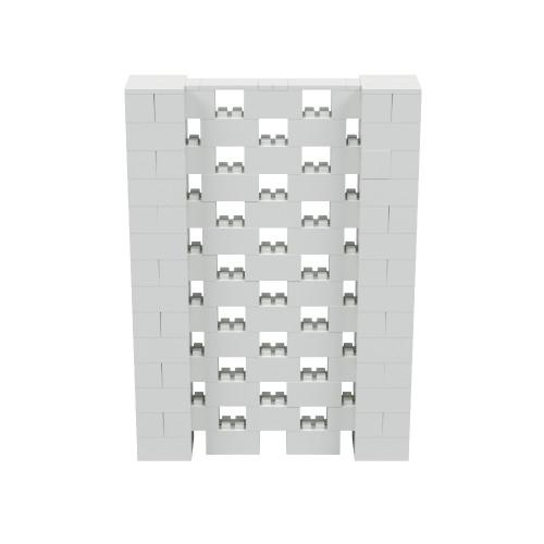 5' x 7' Light Gray Open Stagger Block Wall Kit