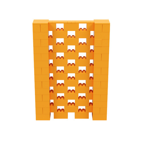 5' x 7' Orange Open Stagger Block Wall Kit