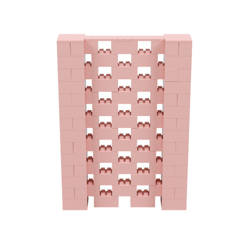 5' x 7' Pink Open Stagger Block Wall Kit