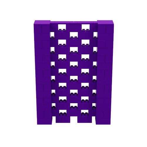 5' x 7' Purple Open Stagger Block Wall Kit