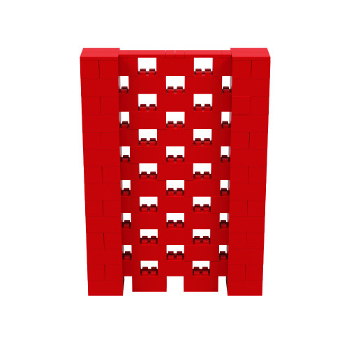 5' x 7' Red Open Stagger Block Wall Kit