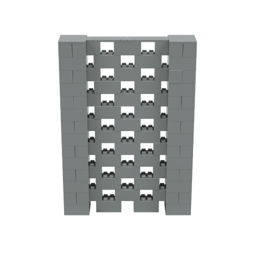 5' x 7' Silver Open Stagger Block Wall Kit