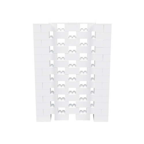 5' x 7' White Open Stagger Block Wall Kit