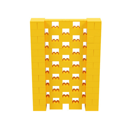 5' x 7' Yellow Open Stagger Block Wall Kit