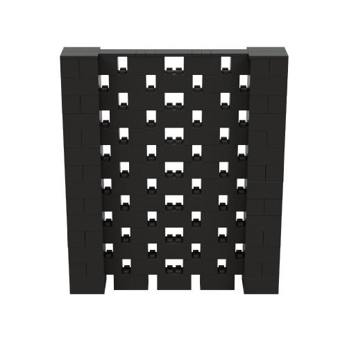 6' x 7' Black Open Stagger Block Wall Kit