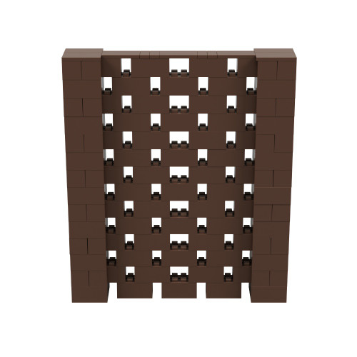 6' x 7' Brown Open Stagger Block Wall Kit