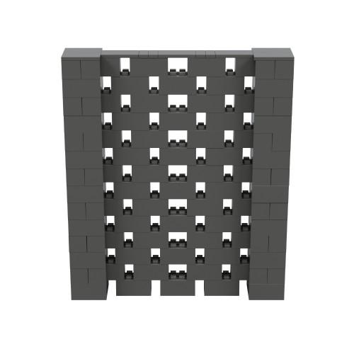 6' x 7' Dark Gray Open Stagger Block Wall Kit