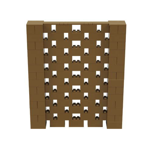 6' x 7' Gold Open Stagger Block Wall Kit