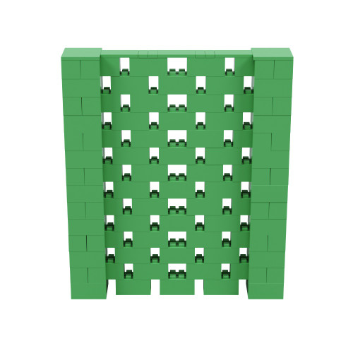 6' x 7' Green Open Stagger Block Wall Kit