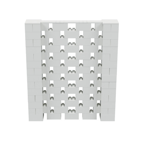 6' x 7' Light Gray Open Stagger Block Wall Kit