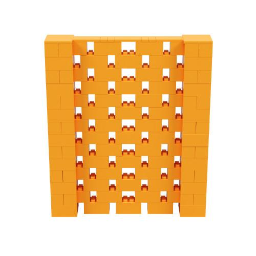 6' x 7' Orange Open Stagger Block Wall Kit