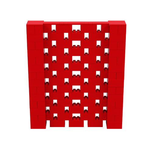 6' x 7' Red Open Stagger Block Wall Kit
