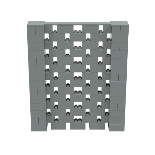 6' x 7' Silver Open Stagger Block Wall Kit