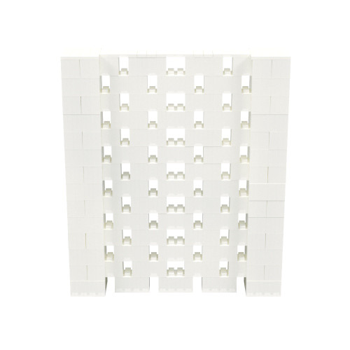 6' x 7' Translucent Open Stagger Block Wall Kit