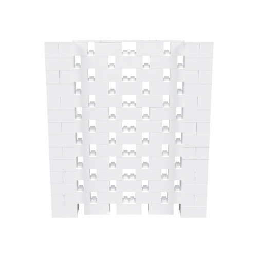 6' x 7' White Open Stagger Block Wall Kit