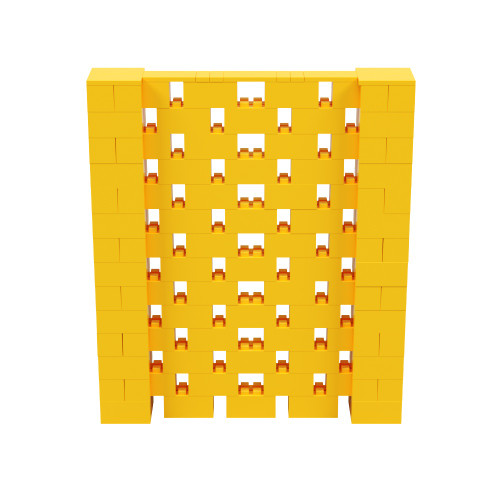 6' x 7' Yellow Open Stagger Block Wall Kit