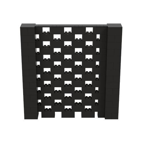 7' x 7' Black Open Stagger Block Wall Kit