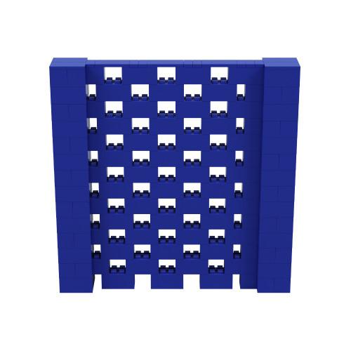7' x 7' Blue Open Stagger Block Wall Kit