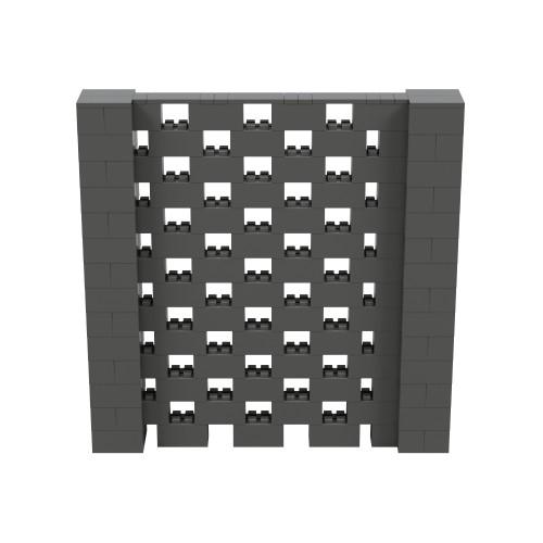 7' x 7' Dark Gray Open Stagger Block Wall Kit