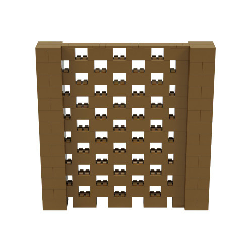 7' x 7' Gold Open Stagger Block Wall Kit