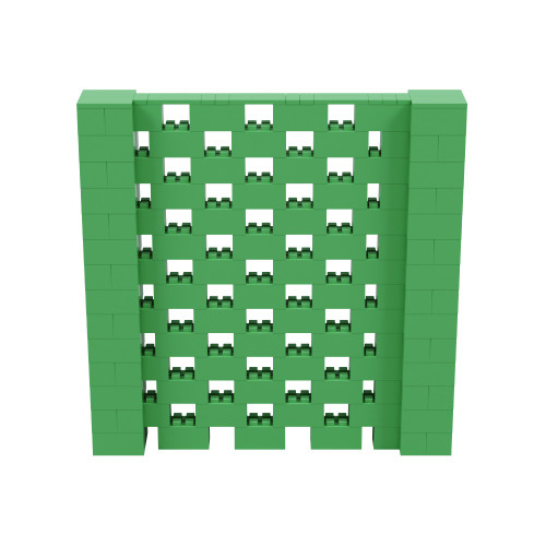 7' x 7' Green Open Stagger Block Wall Kit