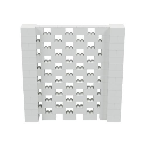 7' x 7' Light Gray Open Stagger Block Wall Kit