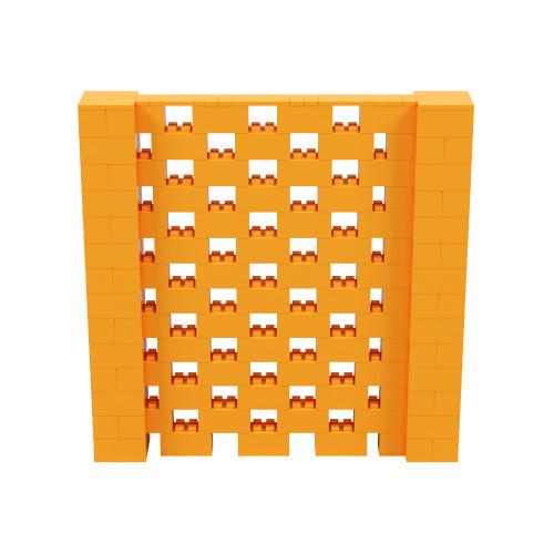 7' x 7' Orange Open Stagger Block Wall Kit