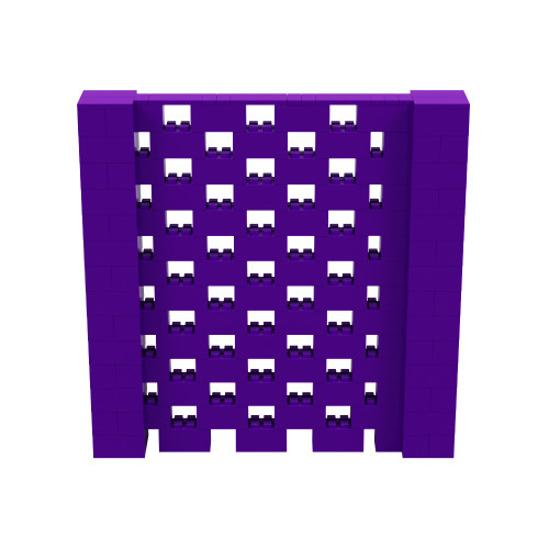 7' x 7' Purple Open Stagger Block Wall Kit