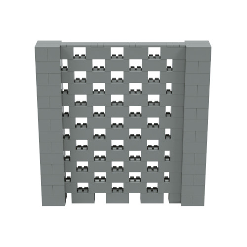 7' x 7' Silver Open Stagger Block Wall Kit