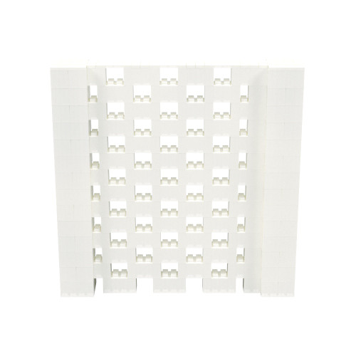 7' x 7' Translucent Open Stagger Block Wall Kit