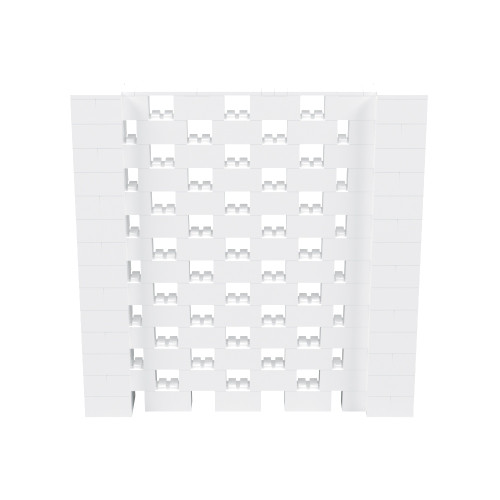 7' x 7' White Open Stagger Block Wall Kit