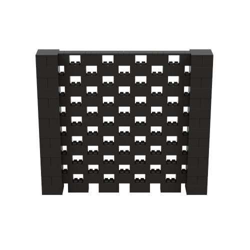 8' x 7' Black Open Stagger Block Wall Kit
