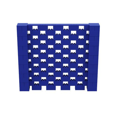 8' x 7' Blue Open Stagger Block Wall Kit