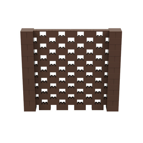 8' x 7' Brown Open Stagger Block Wall Kit