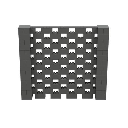 8' x 7' Dark Gray Open Stagger Block Wall Kit