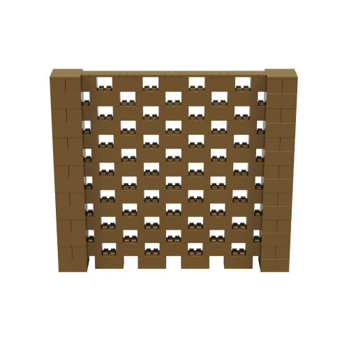 8' x 7' Gold Open Stagger Block Wall Kit