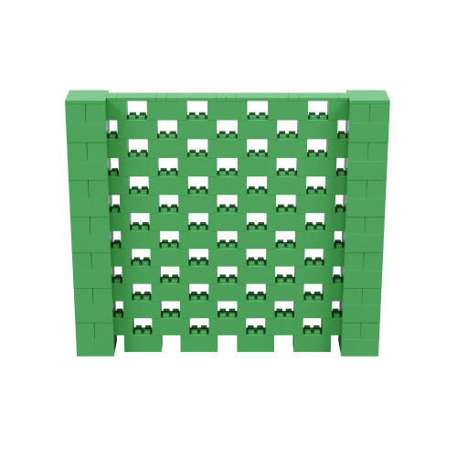 8' x 7' Green Open Stagger Block Wall Kit