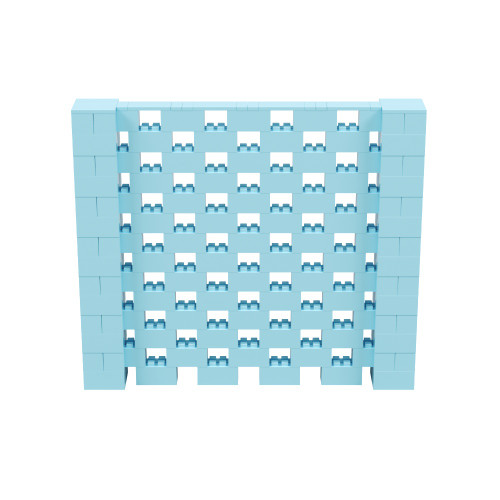 8' x 7' Light Blue Open Stagger Block Wall Kit