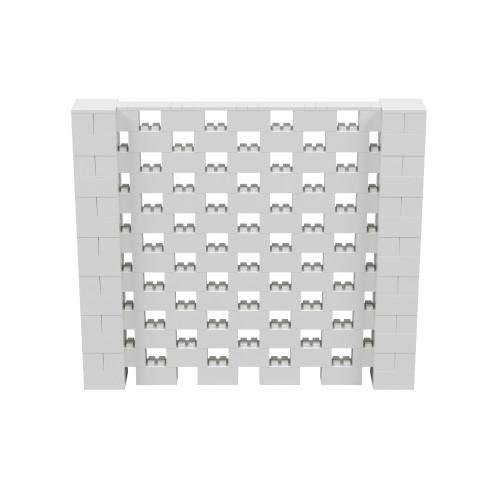 8' x 7' Light Gray Open Stagger Block Wall Kit
