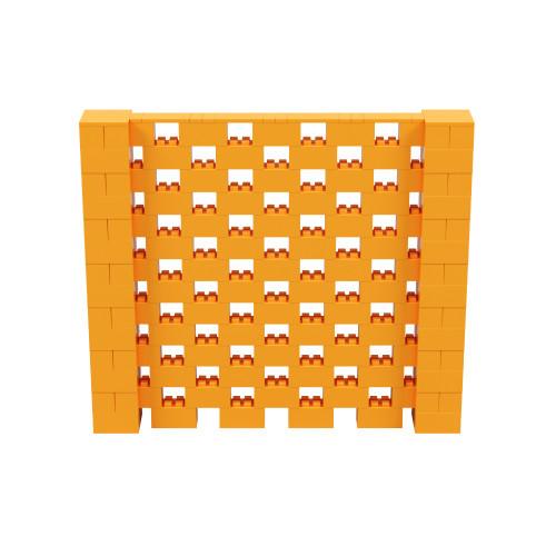8' x 7' Orange Open Stagger Block Wall Kit