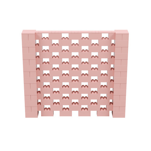 8' x 7' Pink Open Stagger Block Wall Kit