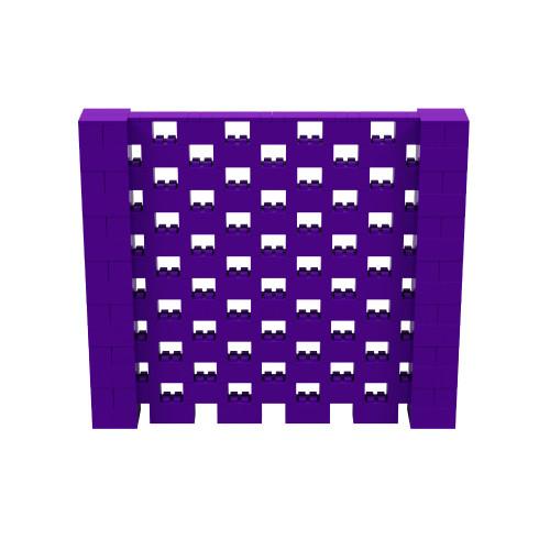 8' x 7' Purple Open Stagger Block Wall Kit