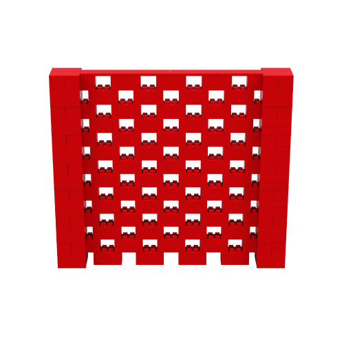 8' x 7' Red Open Stagger Block Wall Kit