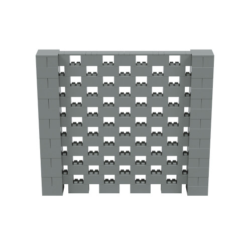 8' x 7' Silver Open Stagger Block Wall Kit