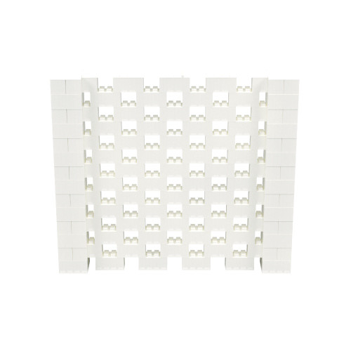 8' x 7' Translucent Open Stagger Block Wall Kit