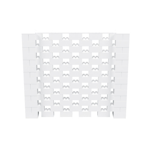 8' x 7' White Open Stagger Block Wall Kit